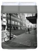 Yonge And Queen In Toronto Duvet Cover