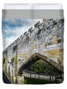 York City Roman Walls Duvet Cover