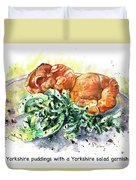 Yorkshire Puddings With Yorkshire Salad Garnish Duvet Cover