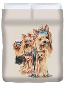 Yorkshire Terrier Duvet Cover