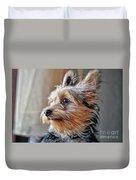 Yorkshire Terrier Dog Pose #2 Duvet Cover
