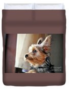 Yorkshire Terrier Dog Pose #5 Duvet Cover