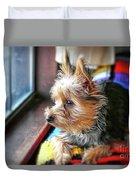 Yorkshire Terrier Dog Pose #8 Duvet Cover