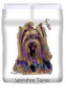 Yorkshire Terrier Pop Art Duvet Cover