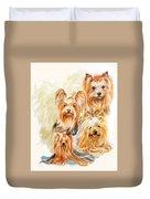 Yorkshire Terrier W/ghost Duvet Cover