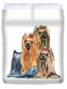 Yorkshire Terriers Duvet Cover