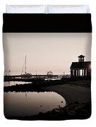 Yorktown Marina Morning Duvet Cover
