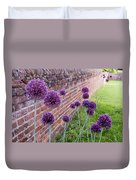 Yorktown Onions Along The Wall Duvet Cover