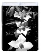 Yosemite Dogwoods Black And White Duvet Cover