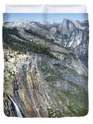 Yosemite Falls And Valley From Eagle Tower Detail - Yosemite Duvet Cover