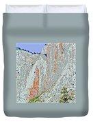 Yosemite Falls Drought Duvet Cover