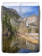 Yosemite Falls Reflection Duvet Cover