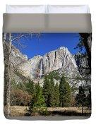 Yosemite Falls Through The Trees Duvet Cover