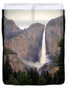 Yosemite Falls Vertical Duvet Cover