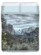 Yosemite National Park Tunnel View  Duvet Cover