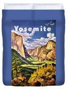 Yosemite National Park Vintage Poster Duvet Cover