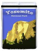 Yosemite Poster Duvet Cover