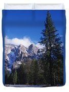 Yosemite Three Brothers In Winter Duvet Cover