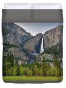 Yosemite Upper And Lower Falls Duvet Cover