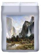 Yosemite Valley, C1860 Duvet Cover