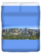 Yosemite Valley Panorama From Union And Glacier Points Duvet Cover