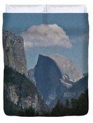 Yosemite View Of El Capitan And Half Dome Duvet Cover
