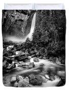 Yosemite Waterfall Bw Duvet Cover