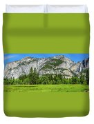 Yosemite West Valley Meadow Panorama #2 Duvet Cover