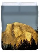 Yosemite's Half Dome At Sunset Duvet Cover