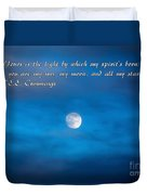 You Are My Moon Duvet Cover