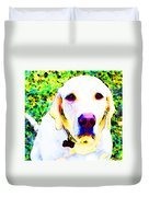 You Are My World - Yellow Lab Art Duvet Cover