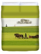 Young Amish Farmer Duvet Cover
