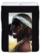 Young Black African Girl Duvet Cover