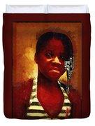 Young Black Female Teen 1 Duvet Cover