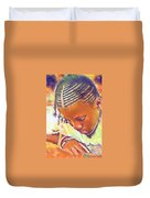 Young Black Female Teen 2 Duvet Cover