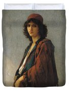 Young Bohemian Serb Duvet Cover by Charles Landelle
