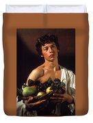 young boy Caravaggio Duvet Cover