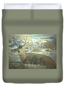 Young Buck Resting Duvet Cover