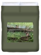 Young Buck Watching Eagle Duvet Cover