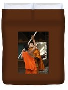 Young Buddhist Monks Laos Duvet Cover