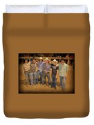 Young Bull Riders Portrait Duvet Cover