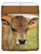 Young Calf In A Pasture Duvet Cover