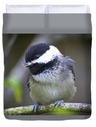 Young Chickadee  Duvet Cover