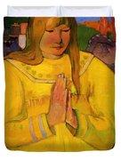 Young Christian Girl 1894 Duvet Cover