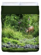 Young Doe Among The Flora, No. 2 Duvet Cover