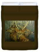 Young Elk Trio- Wapiti Duvet Cover