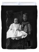 Young Ernest Lawrence And Brother, 1904 Duvet Cover