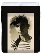 Young Faces From The Past Series By Adam Asar - Asar Studios, No 1 Duvet Cover