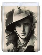Young Faces From The Past Series By Adam Asar, No 104 Duvet Cover