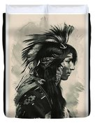 Young Faces From The Past Series By Adam Asar, No 108 Duvet Cover